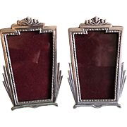 2 Vintage small Pewter picture frames by Elias Artmetal New York