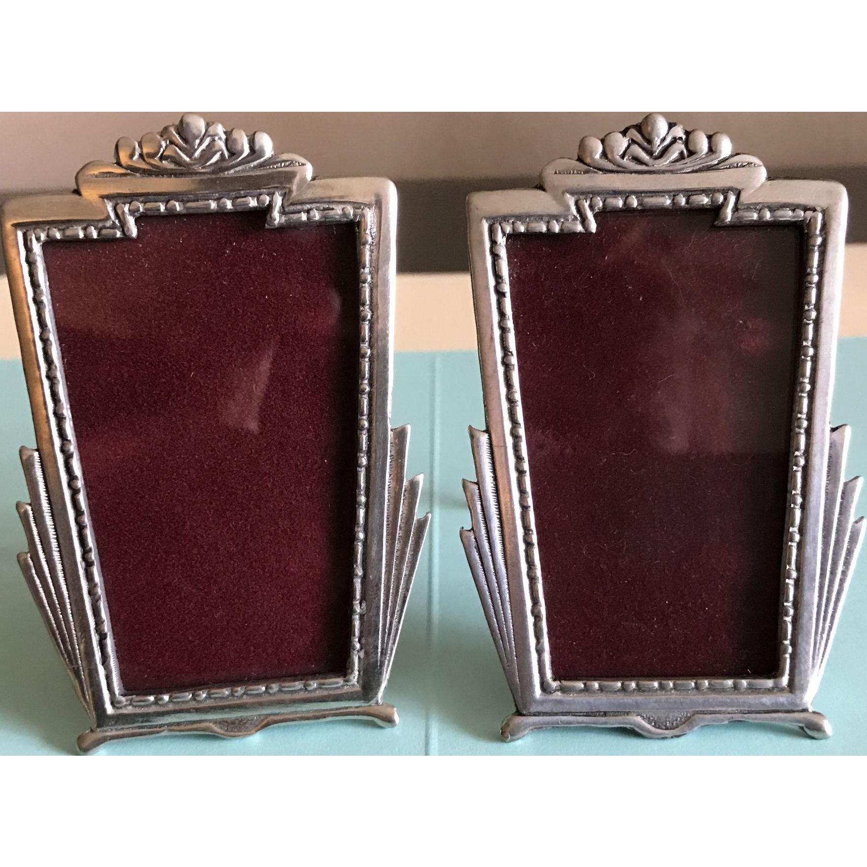 2 Vintage Pewter picture frames by Elias Artmetal New York