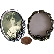 Two Vintage miniature picture frames