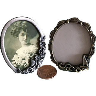 Two Vintage miniature picture frames