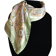 Vintage silk satin scarf made in Italy by Jainine