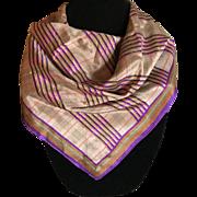 Vintage Anne Klein bronze silk Scarf