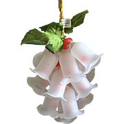 Vintage 1985 Schmid cluster of glass lilies Christmas ornament