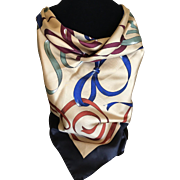 Vintage Brooks Brothers silk scarf ribbon design made in Italy