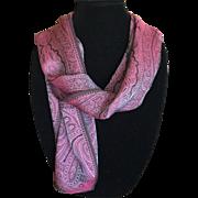Vintage shimmering iridescent lilac silk scarf