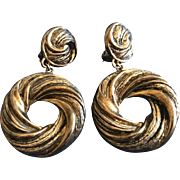 Vintage Nurit Shoshana Bar-On Sterling Silver Clip on earrings
