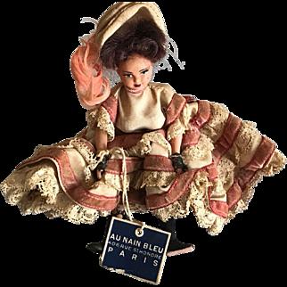 Vintage small Fashion cancan doll from Au Nain Bleu Paris