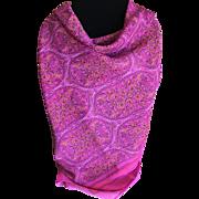 Vintage hot pink polyester scarf