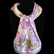 Vintage pure silk satin Oscar de la Renta scarf