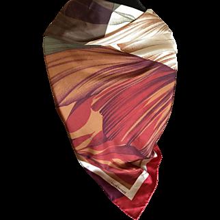 Vintage Harve Benard pure silk  scarf