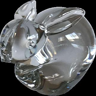 Vintage Silvestri hand blown glass bunny rabbit