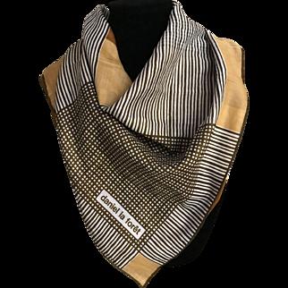 Vintage Italian pure cotton scarf