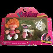 Vintage Fisher Price Smooshees Cuddlers on the Go Beth boxed set