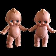 2 Vintage rubber Kewpie Dolls