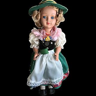 Vintage Gura tagged doll girl in Alpine attire