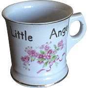 Occupied Japan coffee can style mug 'For A Little Angel'