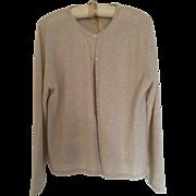 Vintage beige cashmere cardigan