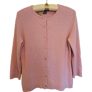 Pretty pink vintage Ann Taylor cashmere cardigan