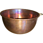 Vintage Solid Copper Mixing Bowl