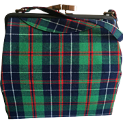 Vintage Tartan Plaid Handbag Meyho Edinburgh Scotland