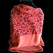Vintage Charles Jourdan Paris round silk chiffon scarf