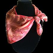 Vintage coral floral Vera scarf