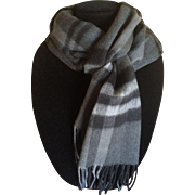 Soft cashmere and wool blend scarf
