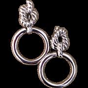 Vintage Givenchy doorknocker earrings