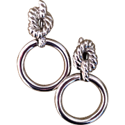 Vintage Givenchy silver tone doorknocker earrings