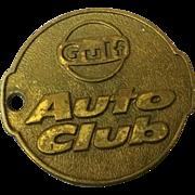 Vintage Gulf Auto Club key fob