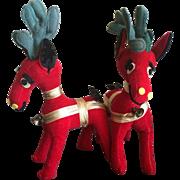 Vintage stuffed reindeer by Dankin made in Japan