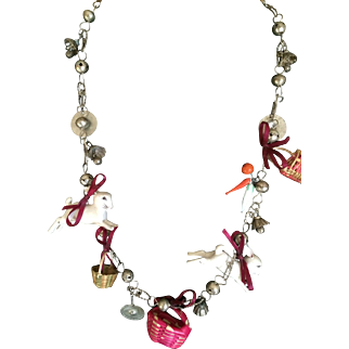 Vintage Guatemalan bunny rabbit necklace