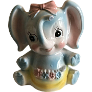 Vintage Baby Elephant Flower Vase for Baby