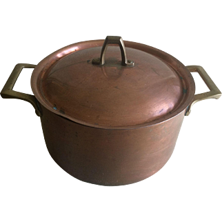 Vintage Paul Revere copper pot with lid