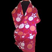 Vintage Oscar by Oscar de La Renta splash of red silk scarf