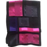 Vintage abstract Adrienne Vittadini silk scarf