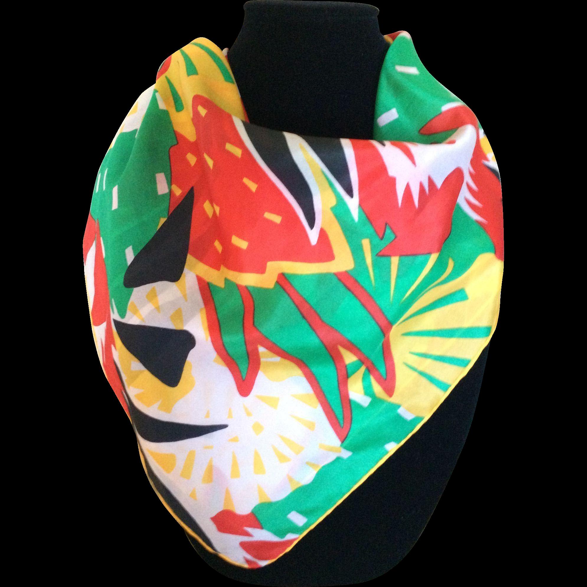 Jamaica me crazy vintage silk scarf