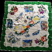 Vintage 195's silk souvenir scarf from Bermuda