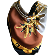 Vintage Italian celestial design scarf