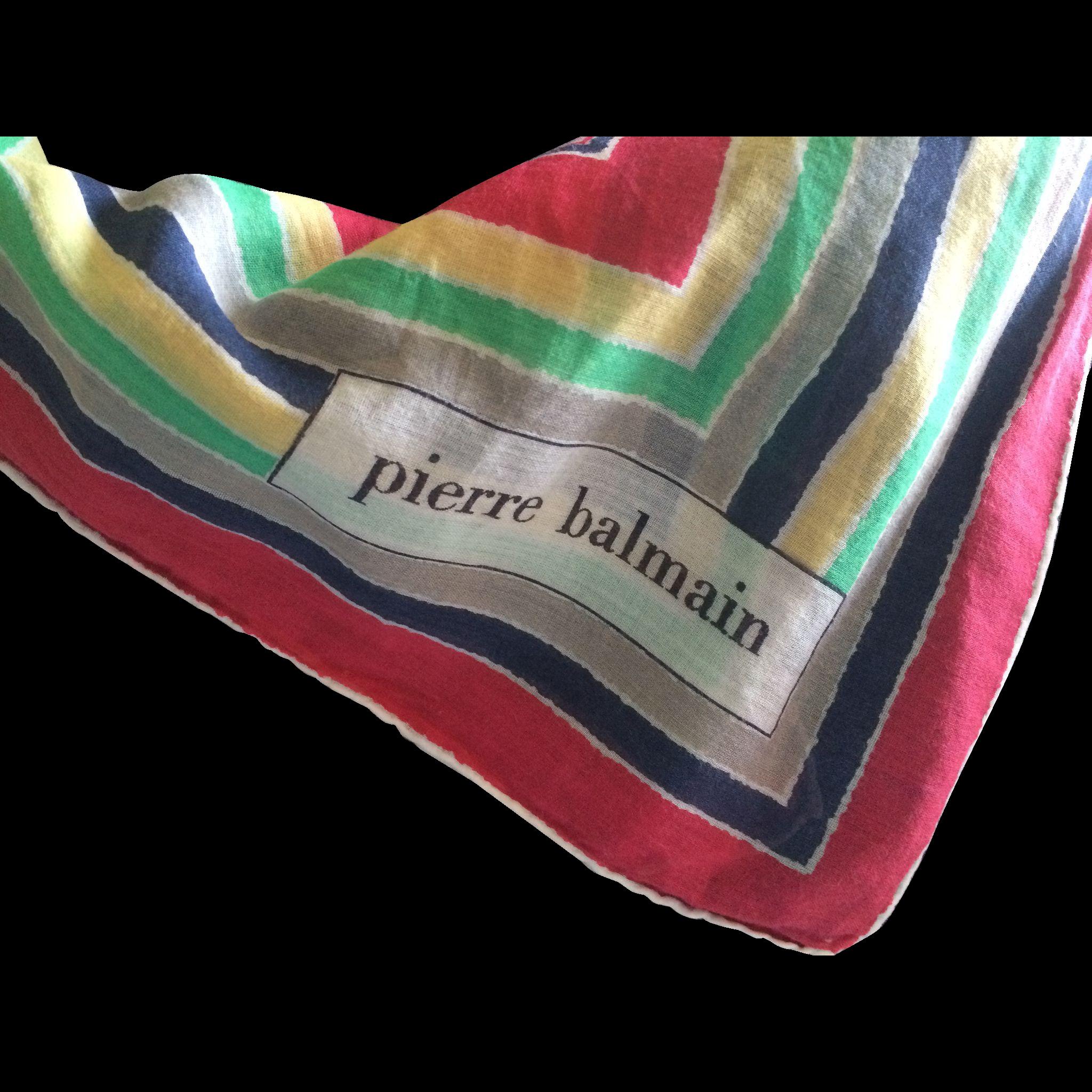 Vintage cotton Pierre Balmain scarf