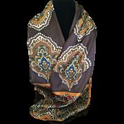 Vintage Adrienne Landau Studio long silk scarf