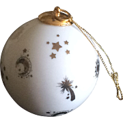 Vintage Reutter porcelain  Christmas ornament made in Germany