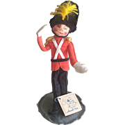 Vintage Annalee Mobilitee English Beefeater guard doll with stand