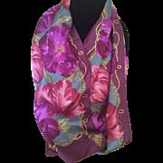 Vintage Oscar de La Renta tulip silk scarf