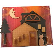 Vintage Halloween House Pin by Lucinda