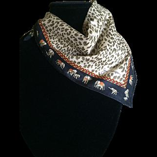 Vintage cotton Jim Thompson elephant scarf
