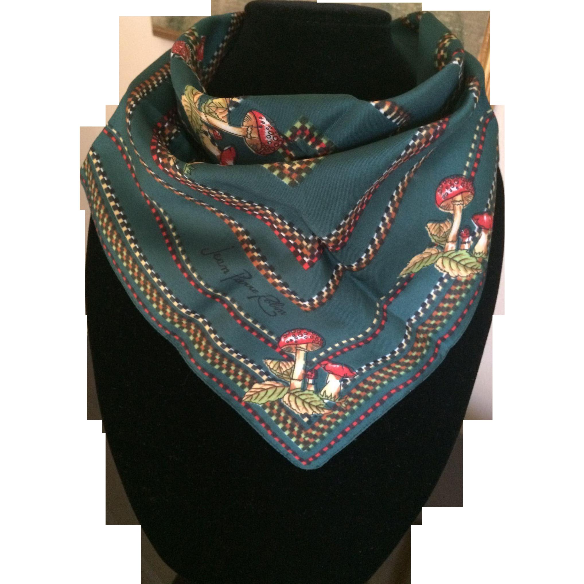 Vintage Jean Pierre Robin magic mushroom scarf