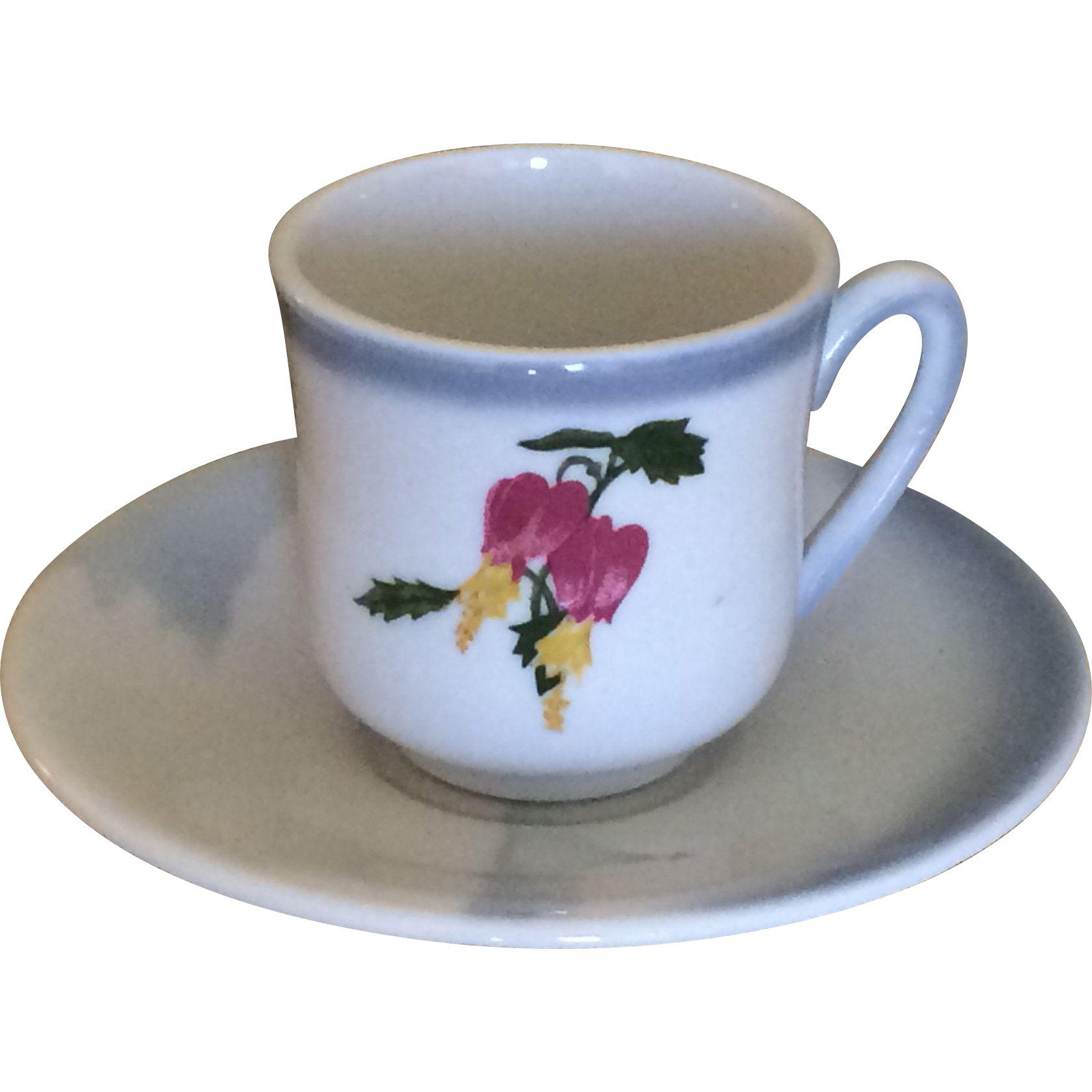 Vintage Moore McCormack Cruise Lines Rio Seascape Demitasse Cup and Saucer