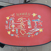 1959 Hawaii Celebrates Statehood Commemorative Tray