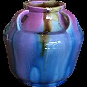 Old Japanese Awaji Ware Vase